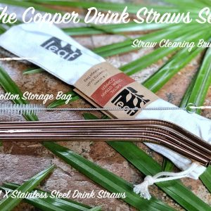 set copper straw