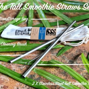 set silver long straw
