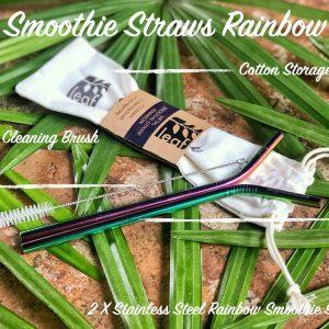 set smoothie rainbow